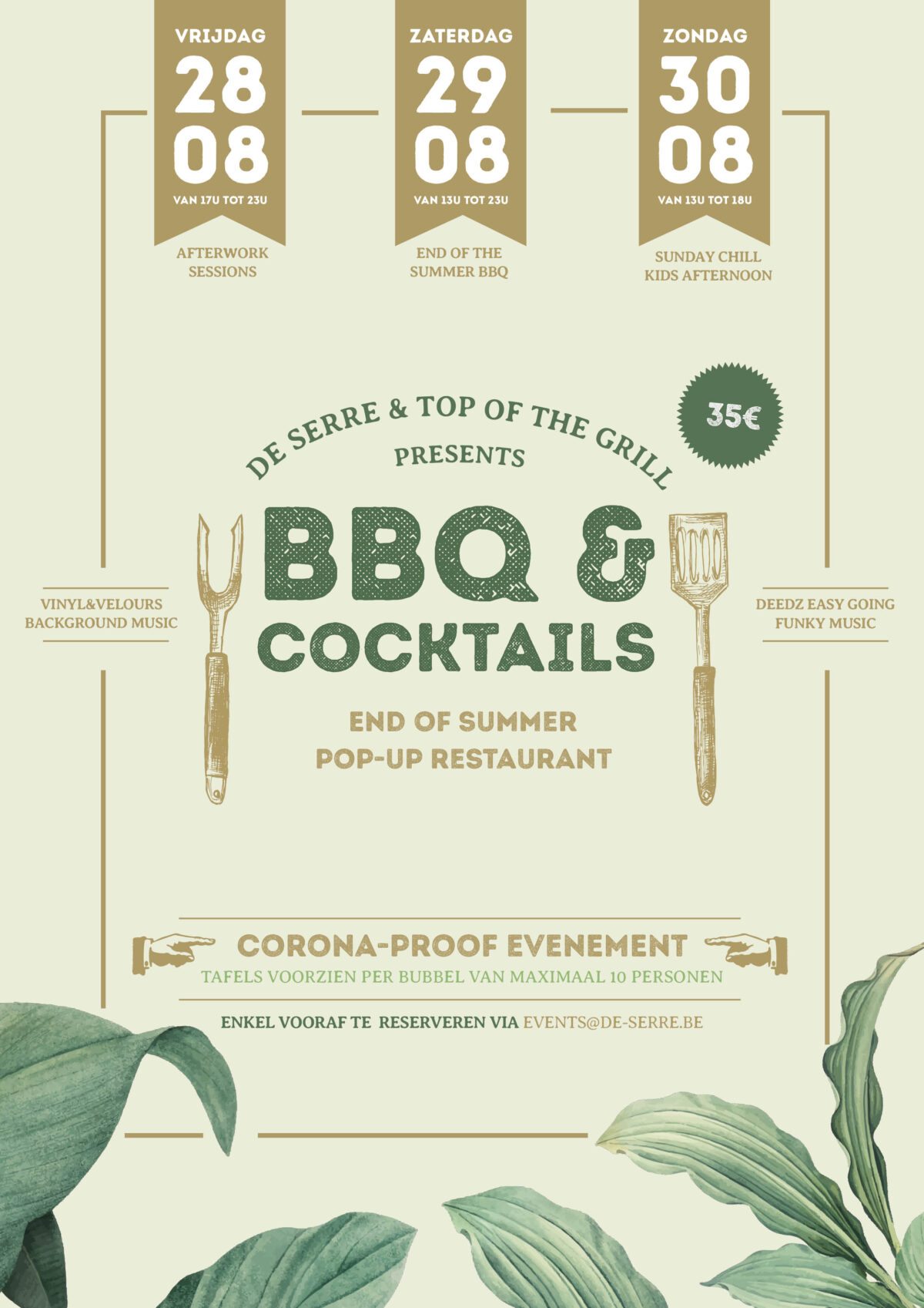 End of Summer BBQ, Pop-Up Resto by de Serre